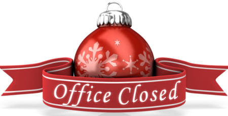 Office closed during Christmas Holidays